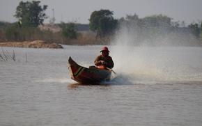 Картинка озеро, люди, камбоджа, тонлесап
