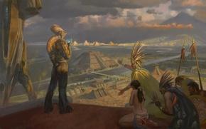 Картинка картина, пришелец, индейцы, ацтеки