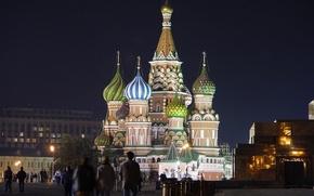 Обои Площадь, Собор Василия Блаженного, Москва