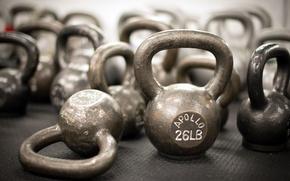 Картинка gym, weights, kettlebells