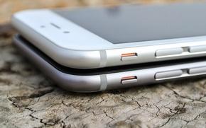 Картинка макро, apple, silver, Iphone, ios, iphone 6, space grey
