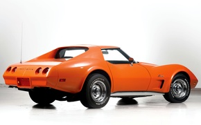 Картинка авто, Corvette, Chevrolet, orange, Stingray