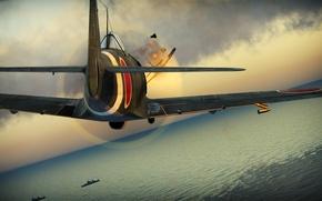 Картинка Япония, Japan, Grumman, Frank, Nakajima, War Thunder, Ki-84, Hayate, F8F, Bearcat