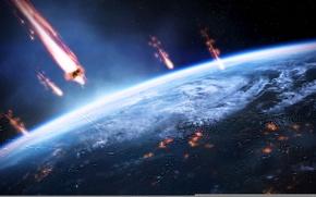 Картинка земля, mass effect 3, жнецы, вторжение, масс эффект 3