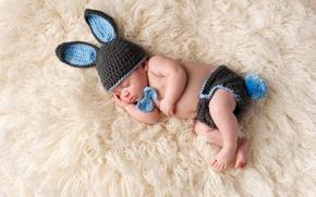 Картинка дети, фото, шапка, спит, младенец