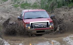 Обои грязь, ford, пикап, f150
