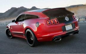 Картинка Mustang, Ford, Shelby, GT500, Красный, Форд, Мустанг, Red, Шелби, Wagon, Универсал, Based-Shooting