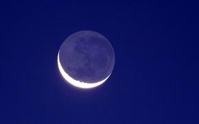 Обои луна, небо, полумесяц, свет