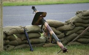 Картинка граната, гранатомёт, действия, мешки, ручной, немецкий, противотанковый, реактивная, кумулятивного, «гроза танков», Панцершрек, Panzerschreck