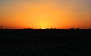 Картинка red, yellow, sunset, beautiful