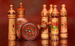 Картинка отражение, фон, деревянные, рисунки-выжигалки, болгарское, розовое масло, футлярчики