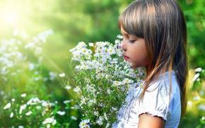 Картинка цветы, девочка, КРАСОТА
