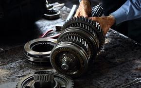 Картинка gears, metal, engine