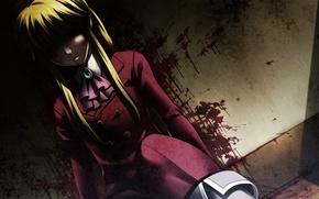 Картинка темнота, кровь, жертва, убийство, пятна, следы крови, Umineko no Naku Koro ni, Когда плачут чайки, …