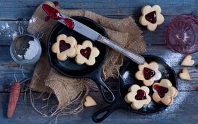 Картинка печенье, джем, Valentine cookies