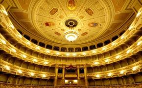 Картинка Германия, Дрезден, театр, балкон, опера, зал, Саксония, ложа