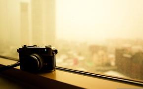 Обои фото, canon canonet ql, фотоаппарат, окно, камера