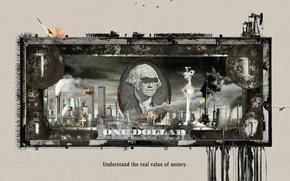Картинка деньги, доллар, политика, Understand the real value of money