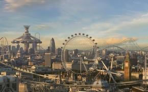 Обои парк, будущее, Лондон, развлечений, аттракционы