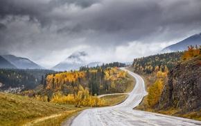 Картинка дорога, осень, Canyon Creek valley