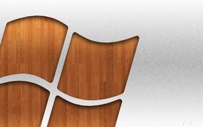 Картинка компьютер, дерево, логотип, эмблема, windows, объем, рельеф, операционная система