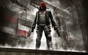 Обои Свет, Оружие, Маска, Готэм, Экипировка, Red Hood, Warner Bros. Interactive Entertainment, Rocksteady Studios, Бэтмен: Рыцарь ...