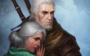Картинка rpg, geralt, The Witcher 3: Wild Hunt, The Witcher 3, Wild Hunt, ciri