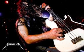 Обои metallica, гитара, бас, роберт, trujillo, roberto, басист, трухильо