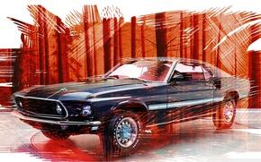 Картинка фон, Mustang, Ford, мустанг, форд