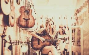 Картинка девушка, гитары, Guitar Heaven