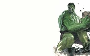 Картинка обломки, зеленый, Халк, Hulk, свирепый, Marvel Comics
