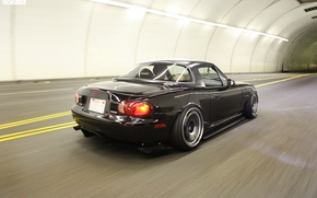Обои Miata, black, Mazda, jdm