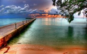 Картинка Пляж, Причал, Тропики