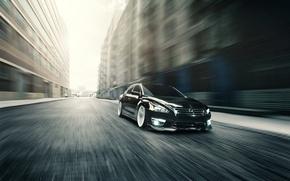 Картинка Nissan, black, ниссан, front, Altima
