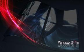 Картинка seven, windows, microsoft, logo, lines, windows seven