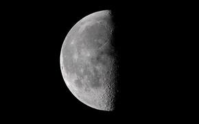 Обои Сторона Луны, Луна, Спутник
