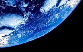 Картинка black, Earth, blue, planet