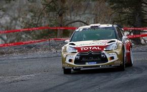 Картинка Поворот, Citroen, DS3, WRC, Rally, Ралли, Monte Carlo, Kris Meeke