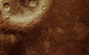 Картинка кратер, Mars, Arabia Terra, Mars Express
