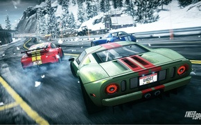 Картинка гонка, 911, Porsche, занос, Mercedes, Ford GT, drift, Need for Speed, nfs, SLS, GT3, race, …