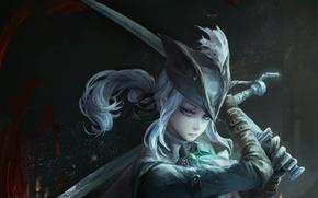 Обои девушка, меч, арт, bloodborne, jlien