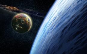 Картинка moon, planet, atmosphere, Sci Fi
