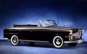 Картинка ретро, BMW, БМВ, 1960, бэха, Cabriolet, 502, Autenrieth
