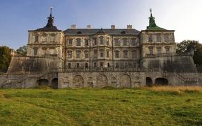Обои Lviv, Pidhirtsi Castle, лужайка, Львов, Украина, трава, замок