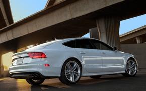 Картинка Audi, Ауди, Белый, Машина, Машины, Car, Автомобиль, Cars, White, Автомобили, Sportback, US-spec