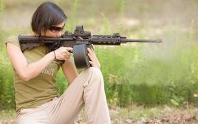 Картинка девушка, карабин, ar15