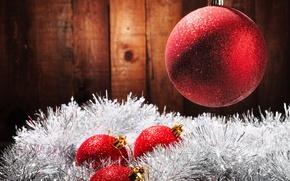 Картинка шары, Новый Год, Рождество, мишура, Christmas, New Year, decoration