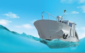 Картинка design, water, boat, anchor