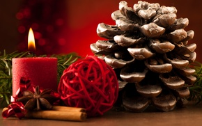 Картинка зима, украшения, праздник, новый год, рождество