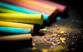 Обои цвета, макро, обои, яркие, картинки, размытость, wallpapers, мелки, стружка
